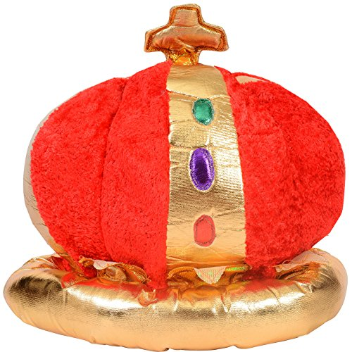 Plush Royal King's Crown - Costume Accessory by Funny Party - Hat King Kids