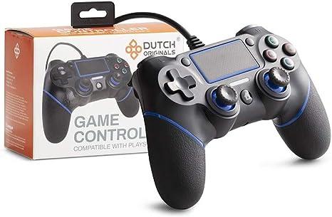 DUTCH ORIGINALS Mando Ps4 / Ps3 / PC, Joystick con analógico, Botones de dirección y acción, Controlador con