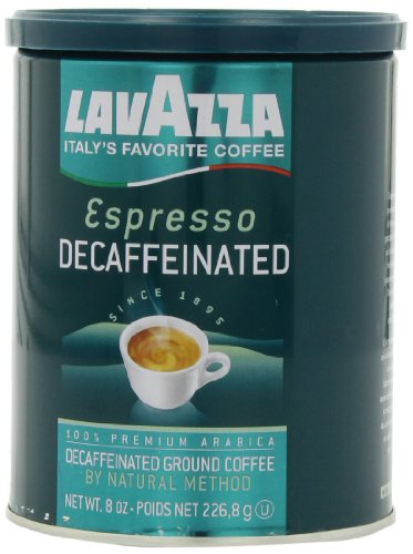 Lavazza Decaffeinated Espresso Ground Coffee, Medium roast, 8-Ounce Cans (Pack of 4)