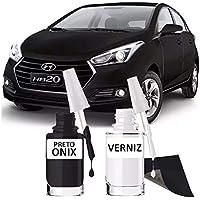 Tinta Tira Risco Automotivo Preto Onix Hyundai 15ml