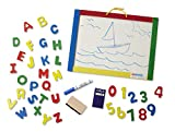 Melissa & Doug Magnetic Chalkboard and Dry-Erase Board With 36 Magnets, Chalk, Eraser, and Dry-Erase Pen