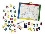 magnet board for kids - Melissa & Doug Magnetic Chalkboard and Dry-Erase Board With 36 Magnets, Chalk, Eraser, and Dry-Erase Pen