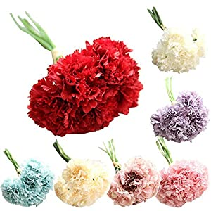 AKIMPE Artificial Fake Flower Faux Greenery DIY Decorations Forever Petals Long Stem Vine Preserved Gift for Wedding Party Home Birthday Garden Her Women 6 Pieces Multicolor 7 5