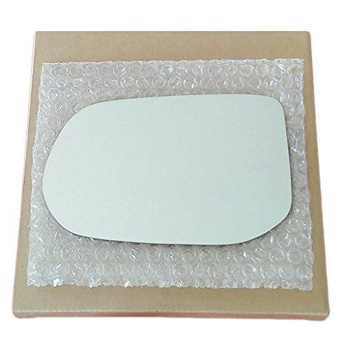 Mirror Glass and Adhesive | 06-11 Honda Civic 4 Door Sedan Driver Left Side Replacement - FITS SEDAN MODEL ONLY