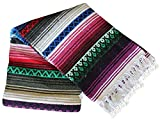 Del Mex X-large Heavy Colorful Mexican Falsa Diamond Blanket