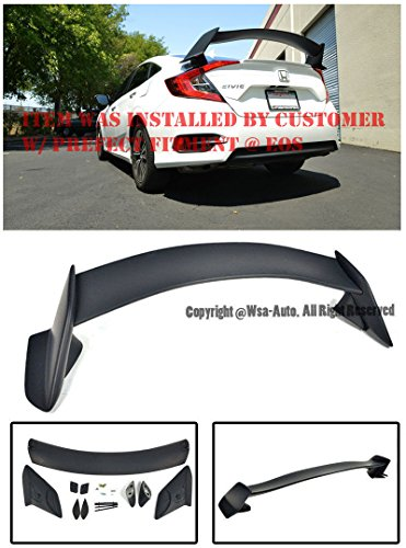 Extreme Online Store EOS Body Kit Rear Wing Spoiler - Made for and Compatible with Honda Civic 4 Door Sedan 16-Up 2016 2017 2018 Type R Style