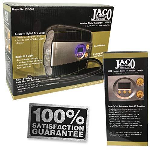 JACO SmartPro Digital Tire Inflator Pump - Premium 12V Portable Air Compressor - 100 PSI by JACO Superior Products (Image #7)