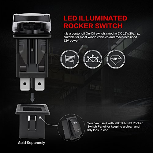Mictuning Ls09901 7 Pin Momentary Laser Rocker Switch