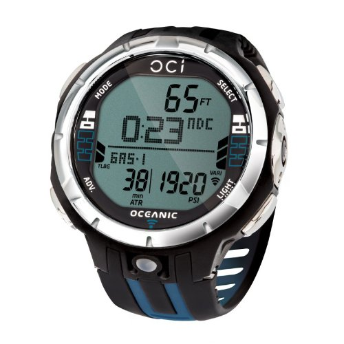 - Oceanic OCi Wireless Dive Watch Computer - Watch Only For Scuba Diving -Blue