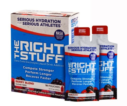 The Right Stuff electrolyte drink additive Std - Retail 10-pouch box - Berry Blend by The Right Stuff electrolyte drink additive