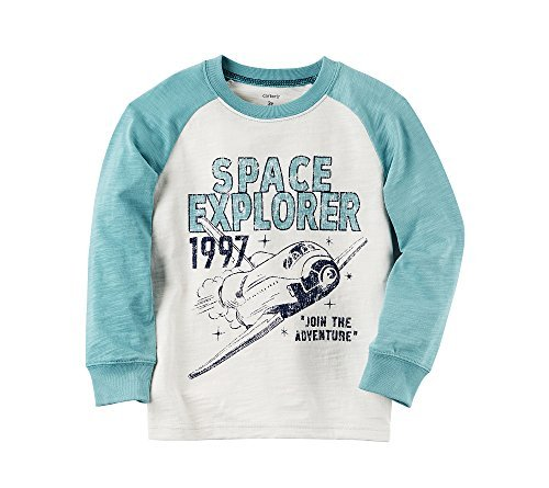Carter's Boys' 2T-8 Long Sleeve Space Explorer Tee 4