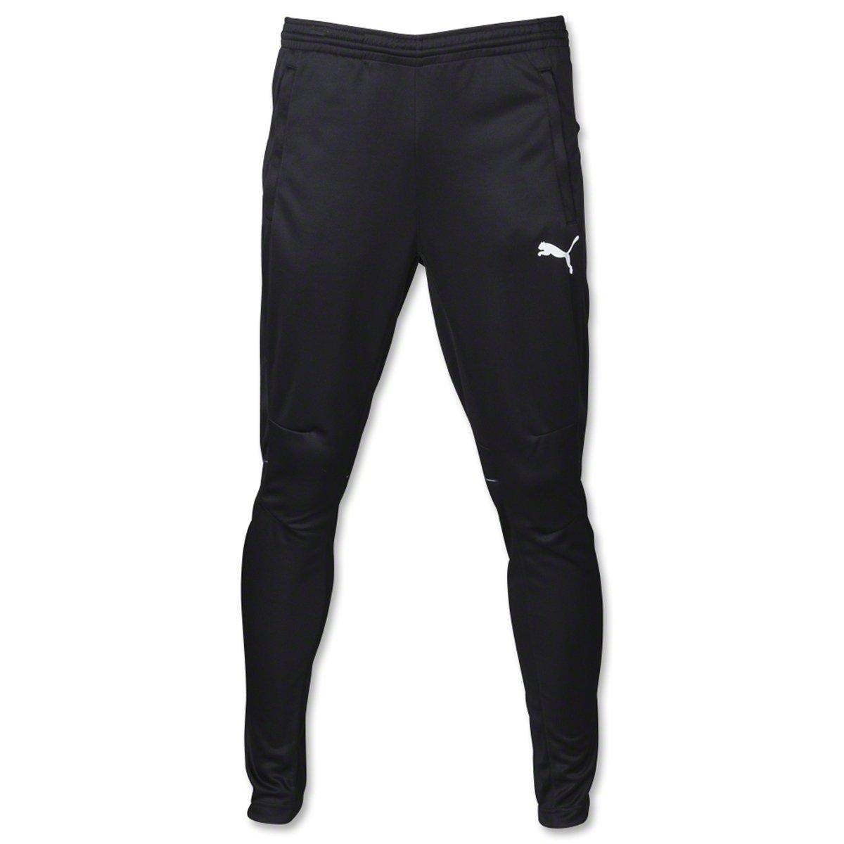 PUMA Men's Training Pant, Black/White, YM