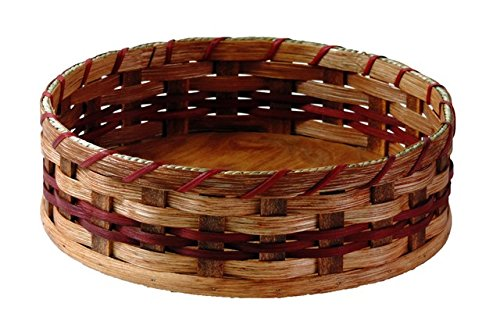 Amish Handmade Large Lazy Susan Basket (12'') IN RED by AMISH BASKETS AND BEYOND (Image #1)