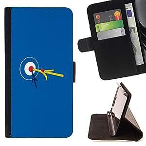BullDog Case - FOR/HTC Desire 820 / - / Bullseye Bulls Eye Match Target /- Monedero de cuero de la PU Llevar cubierta de la caja con el ID Credit Card Slots Flip funda de cuer