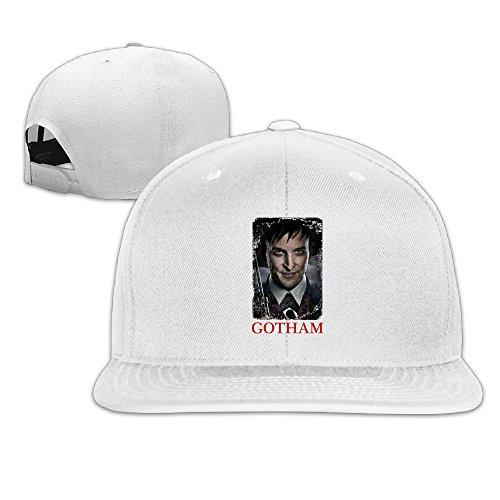 CYANY Gotham Crime Television Series Flat Bill Snapback Adjustable Visor Cap Hat White