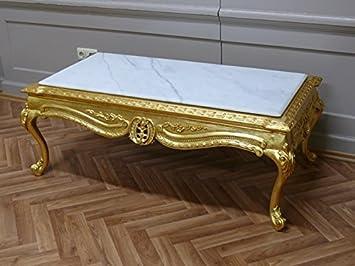 Louisxv Marbre Baroque Blanc Table De Table Basse Style Antique