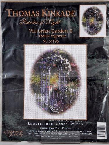 Victorian Trellis (Thomas Kinkade Painter of Light Victorian Garden II Trellis Vignette Cross Stitch Kit)