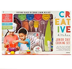 The CrEATive Kitchen Junior chef cooking set will open your child's eyes to the world of culinary Arts! Spend time together in the kitchen whipping up one of the 20 kid-friendly recipes or introduce your child to your classic family favorites...