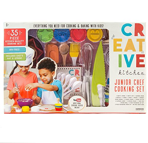 Childrens Kitchen Tools (CrEATive Kitchen Junior Chef Set by Horizon Group USA)