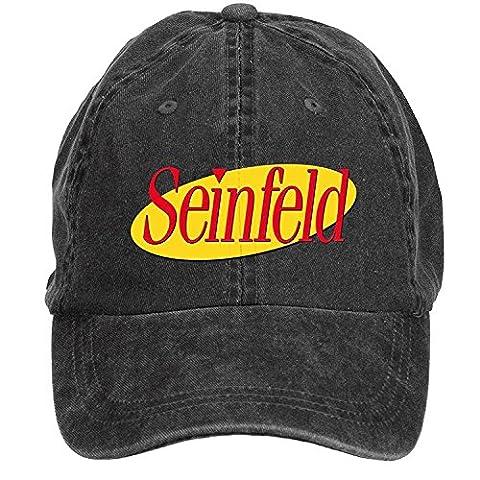 CHENGXINGDA Seinfeld Sitcom Logo Cotton Washed Baseball Cap Adjustable Plain One Size ColorName Hats (Flick Hat)