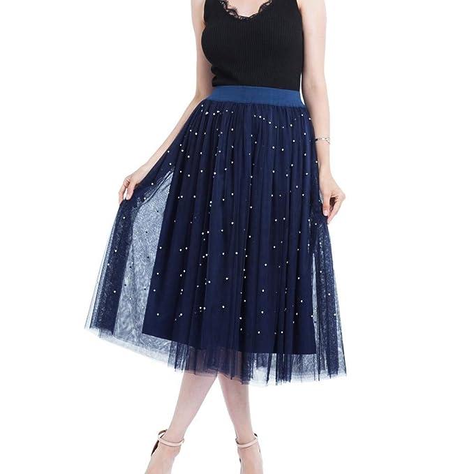 2e680473f6 VJGOAL Verano de Las Mujeres Más El tamaño de la Moda Informal de Malla de  Tul