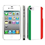 Apple iPhone 4 or 4s Ultra Slim Light Weight Plastic Cover Case By SkinGuardz - Italian Flag