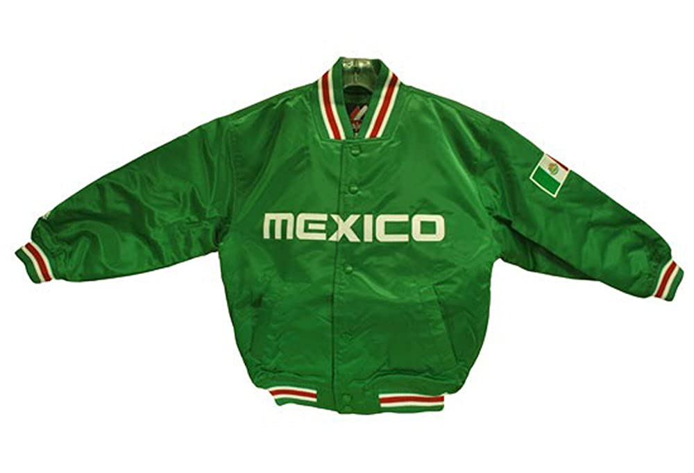 Jacket Majestic Big Boys//Juniors Mexico Satin Green Outerwear