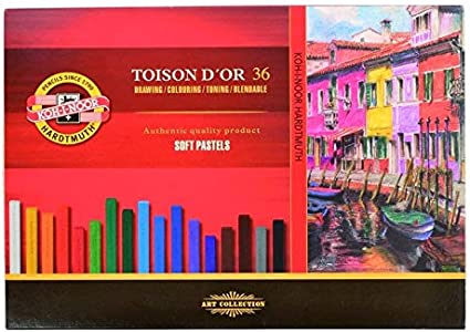 Koh-I-Noor TOISON DOR 8585 - Tizas óleo pastel, multicolor, pack con 36 unidades: Amazon.es: Oficina y papelería