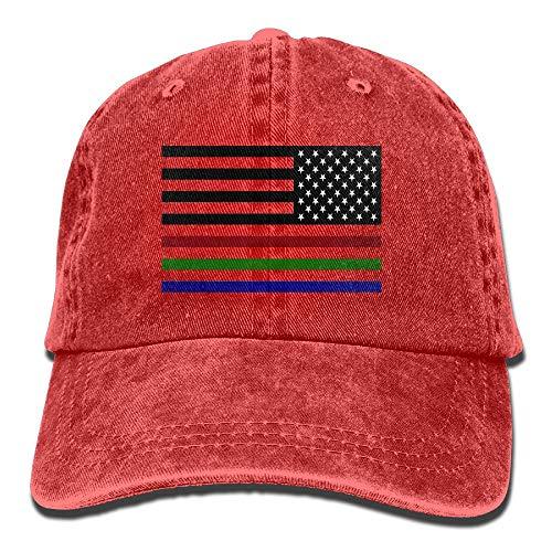 WANING MOON American Flag Red Green Blue Thin Line Cowboy Hat Adjustable Baseball Cap Sunhatcap Peaked Cap