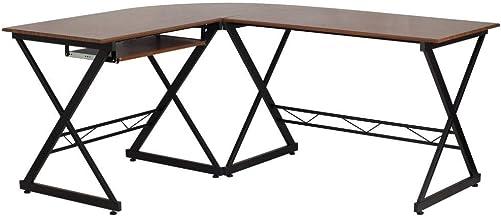 Cheap Flash Furniture Teakwood Laminate L-Shape Computer Desk modern office desk for sale