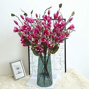 Hivot Artificial Fake Flower Leaf Magnolia Floral Wedding Bouquet Party Plant Home Garden Decor Craft Multicolor 33