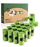 Pets N Bags Poop Bags, Environment Friendly Dog Waste Bags, Refill Rolls (16 Rolls/240 Count, Unscented) Includes Dispenser