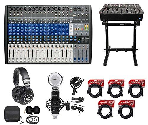 PRESONUS StudioLive AR22 USB Hybrid Digital/Analog Mixer+Headphones+Stand+Mic