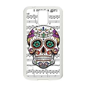Nymeria 19 Customized Sugar Skull Diy Design For Samsung Galaxy S5 Hard Back Cover Case DE-227