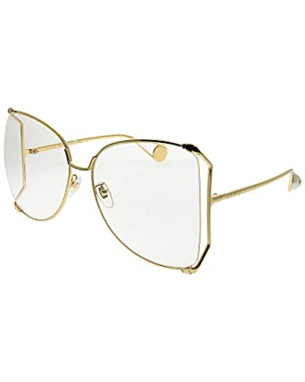 4a09d2f494 Amazon.com  Gucci Womens Women s Butterfly 63Mm Sunglasses  Clothing