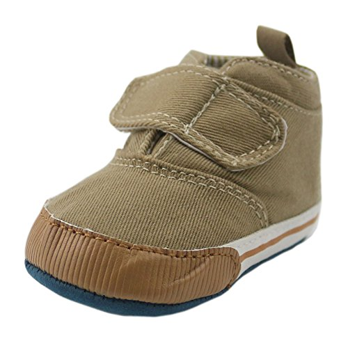 Orgrimmar Baby Boys Girls Casual Lace up Soft Sole Crib Shoes (9-12months, khaki)