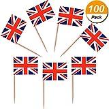 Jovitec 100 Pieces British Flag Toothpic