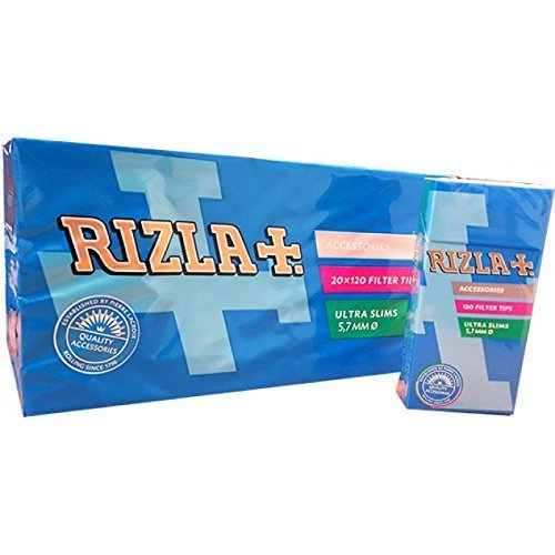 (2400 Rizla Ultra Slim Cigarette Filter Tips - 20 Packet)