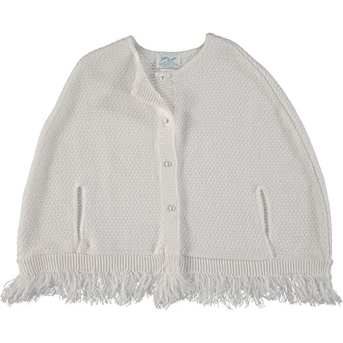 Julius Berger White Classic Button Down Cape - Easter Poncho - Made in USA 7-12 Years