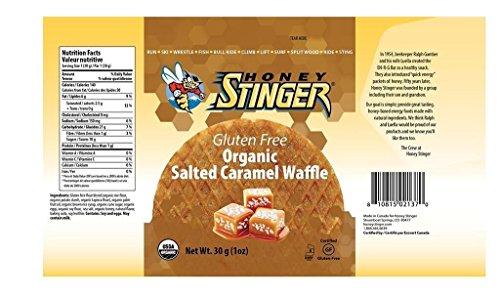 Honey Stinger Waffle, Organic Packs (Gluten Free Salted Caramel, 8 ()