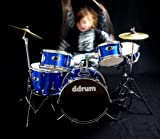 ddrum D1 PB D1 Junior Drum Set 5Piece, Police Blue