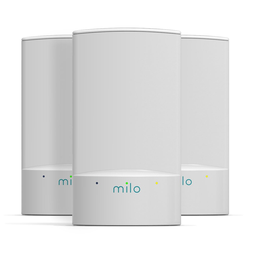 milo 2.0 Three-Pack WiFi Range Extenders - Whole Home Distributed WiFi, BaseLink Network Technology, Hybrid Mesh Technology, Increase WiFi Coverage Area up to 3,750 Sq. Ft. by MILO
