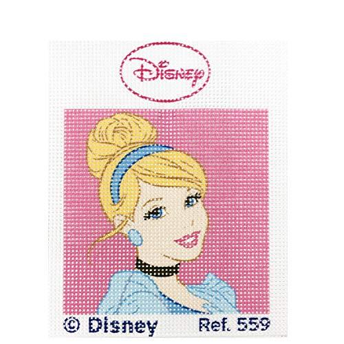 Disney Princess Collection Model 559 Cenicienta Haberdashery Online Half stich embroidery Kit for children 18 x 15 cms