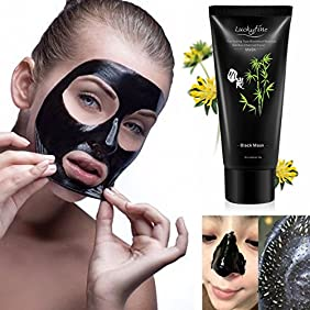 Black Peel Off Mask LuckyFine Blackhead Removal Facial Deep Cleansing Purifying Whitening Mud Mask/Face Cleaning Mask Black 60g