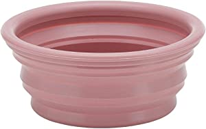 HEVEA Bowl on The go for Dogs, Foldable, Collapsible Water Bowl for Dogs. Made from Non-Toxic, Plastic-Free, BPA-Free and PVC-Free Natural Rubber. Old Rose Holds 10oz.