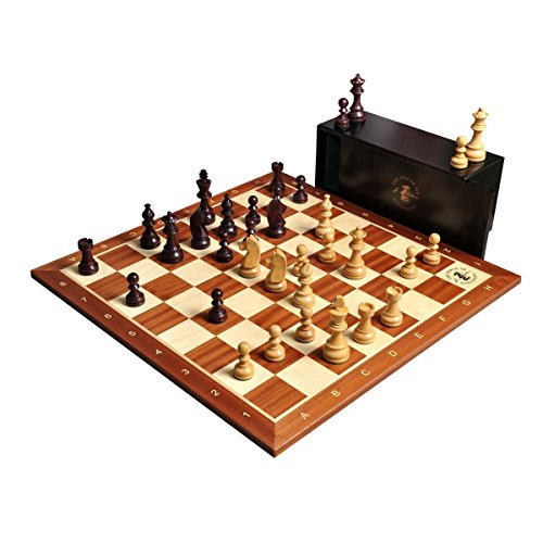 The Championship Series Chess Set, Box, Board Combination - Purpleheart Gilded