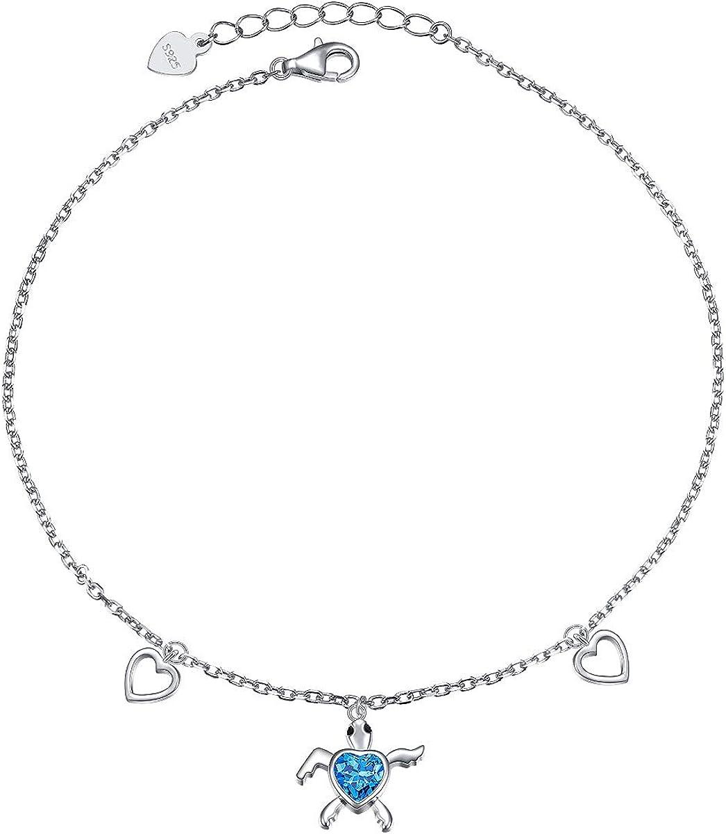 Estate Sterling Silver Turtle Anklet Bracelet