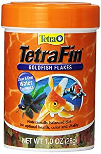 Tetra 77126 TetraFin Goldfish Flakes, 1-Ounce, 185 ml