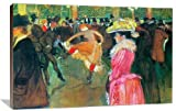 Ball in the Moulin Rouge - Henri de Toulouse-Lautrec (1864 ? 1901) was a French painter, printmaker, draftsman, and illustrator. The period he created his art was known as the Belle Epoque and his focus was on the decadence in Parisian society. beaut...