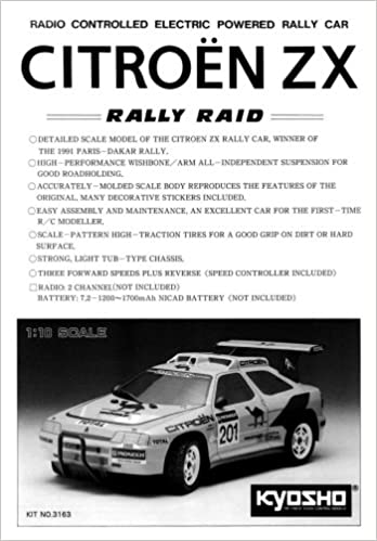 Kyosho rally raid citroen zx 110 electric car instruction manual kyosho rally raid citroen zx 110 electric car instruction manual 3163 kyosho amazon books sciox Choice Image